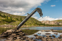 The monster of Loch Nassboden Royalty Free Stock Photography