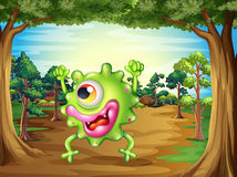 A monster lost in the forest. Illustration of a monster lost in the forest Royalty Free Stock Photo