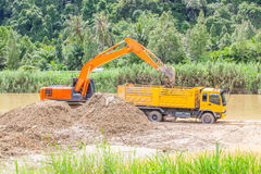Monster machines working. Royalty Free Stock Image