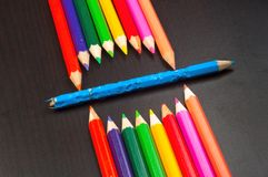 Monster made out of pencils Royalty Free Stock Photos