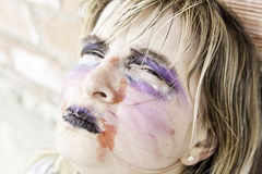Monster makeup woman Royalty Free Stock Photo
