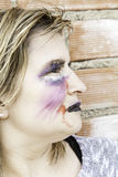 Monster makeup woman Stock Photo