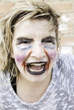 Monster makeup woman. Female monster makeup, mental illness and bullying Royalty Free Stock Photos