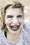 Monster makeup woman Royalty Free Stock Photos