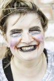 Monster makeup woman Stock Photography
