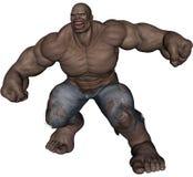 Monster man. 3D rendered monstrous bodybuilder man on white background isolated Stock Image