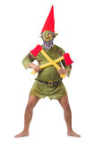 Monster man with axes isolated Stock Photography