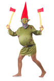 Monster man with axes Stock Images