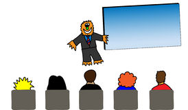 Monster Man Holds a Meeting Stock Images