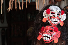 Monster masks at market store Royalty Free Stock Images