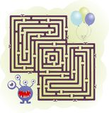 Monster maze Royalty Free Stock Image
