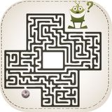 Monster maze Royalty Free Stock Photography