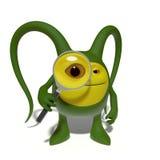 Monster med förstoringsglaset Royaltyfria Foton
