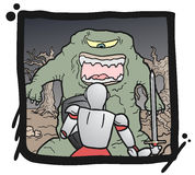 Monster medieval comic Royalty Free Stock Images