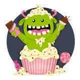Monster met heel wat suikergoed Royalty-vrije Stock Foto's