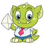 Monster mit einem Buchstaben Lizenzfreies Stockfoto