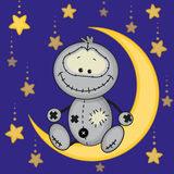 Monster on the moon Royalty Free Stock Image
