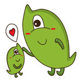 Monster mother baby cute Royalty Free Stock Photos