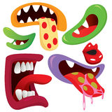 Monster Mouth Collection Royalty Free Stock Photo