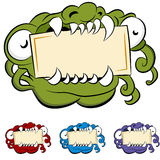 Monster Mouth Sign Royalty Free Stock Photos