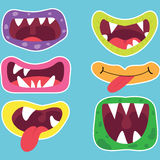 Monster Mouths Set Royalty Free Stock Photos