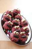 Monster muffins. Muffins dressed up as a monster family Stock Photos
