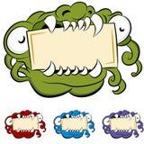 Monster-Mund-Zeichen Lizenzfreie Stockfotos