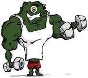 Monster muscles. Stock Image