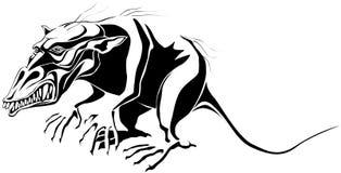 Monster. Mutant rat monster. Eps8. Black and white Stock Images