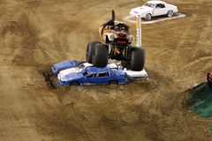Monster Mutt truck making a jump Stock Photography