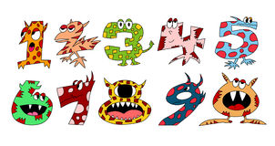Monster numbers set 1 Stock Images