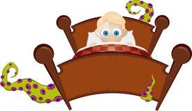 Monster onder het bed royalty-vrije illustratie
