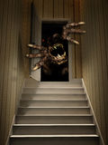 Monster in open door Royalty Free Stock Photography