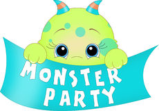 Monster Party Banner Royalty Free Stock Photo
