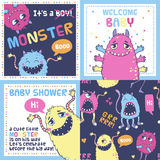Monster party cards. Royalty Free Stock Photos