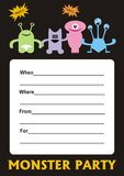 Monster Party Invitation Royalty Free Stock Image