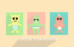Monster pastel fun, choose your monster Stock Photo