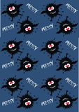 Monster pattern seamless. Seamless monster pattern with blue background vector illustration