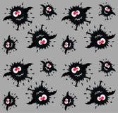 monster pattern seamless stock image