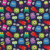 Monster pattern Stock Images