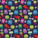 Monster pattern Stock Images