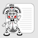 Monster personage pattern with place for your text Royalty Free Stock Images