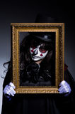 Monster with picture photo frame Royalty Free Stock Photo