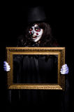 Monster with picture photo frame Royalty Free Stock Photography