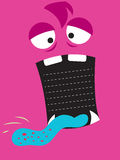 Monster. Pink background with big open mouth for your text or list Royalty Free Stock Photos
