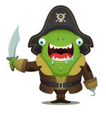 Monster Pirate Stock Image