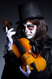 Monster playing violin Royalty Free Stock Photo