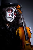 Monster playing violin Royalty Free Stock Images