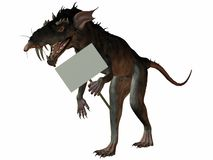 Monster Rat with Sign Royalty Free Stock Images