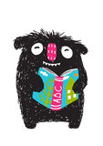 Monster Reading ABC Book Cartoon for Kids Royalty Free Stock Photos